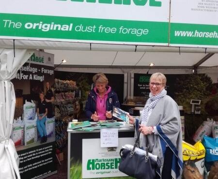 Mary King visits Bramham tradestand