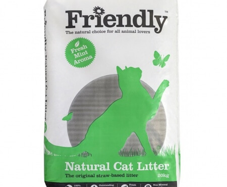 New Packaging for Friendly Natural Cat Litter 20kg!